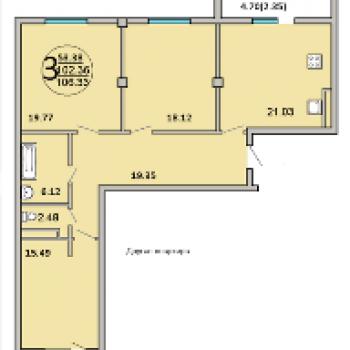 ЖК 120 квартал (Самара) – планировка №2