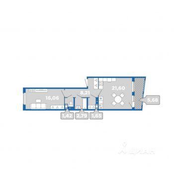 ЖК Лайк (Санкт-Петербург) – планировка №6