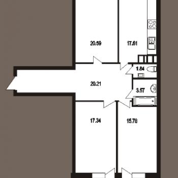 ЖК Ладья (Саратов) – планировка №1