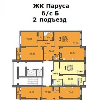 ЖК Паруса (Саратов) – планировка №2