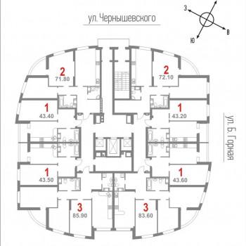 ЖК Нота (Саратов) – планировка №1