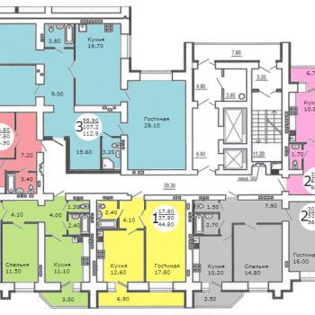 Дом на ул. Менякина (Саратов) – планировка №3
