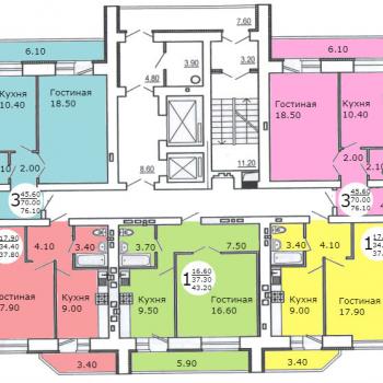 Дом на ул. Менякина (Саратов) – планировка №2