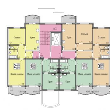 ЖК 7-ой микрорайон (Саратов) – планировка №6