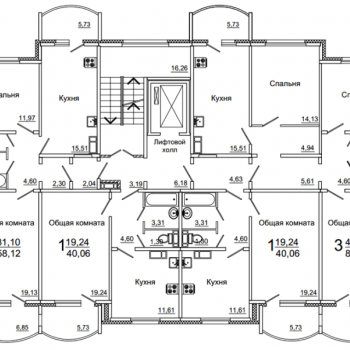 ЖК 7-ой микрорайон (Саратов) – планировка №4