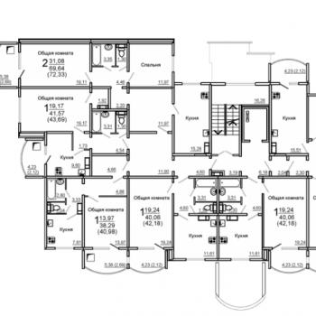 ЖК 7-ой микрорайон (Саратов) – планировка №3