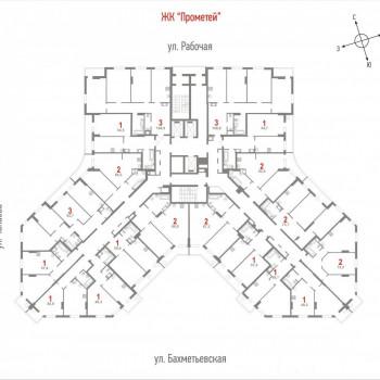 ЖК Прометей (Саратов) – планировка №1