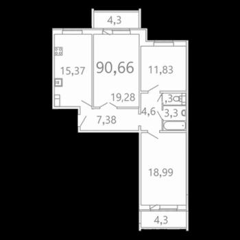 ЖК Микрорайон САЗ (Саратов) – планировка №2