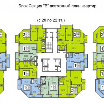 ЖК Тарханы (Саратов) – планировка №1