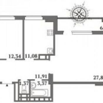 ЖК Столица (Саратов) – планировка №2