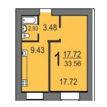 Дом по ул. Лунная, 43 (Саратов) – планировка №1