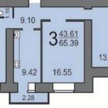 Дом по ул. Лунная, 43 (Саратов) – планировка №3