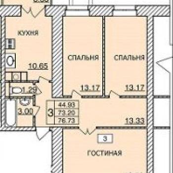 ЖК Лазурный (Смоленск) – планировка №2