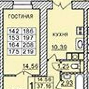 ЖК Лазурный (Смоленск) – планировка №1