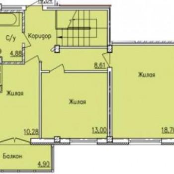 Дом по ул. Вяземская (Смоленск) – планировка №1