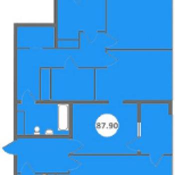 ЖК Голубые дали (Сочи) – планировка №2