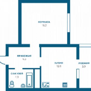 ЖК Современник (Ставрополь) – планировка №1