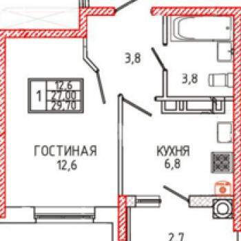 ЖК Новороссийский (Ставрополь) – планировка №1