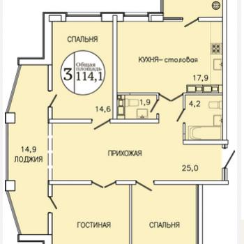 ЖК Привилегия (Ставрополь) – планировка №1