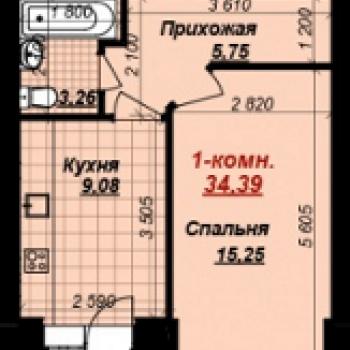 ЖК Тысяча квартир (Тамбов) – планировка №1