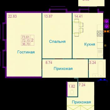 ЖК Вернадский (Тамбов) – планировка №6