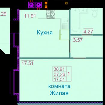 ЖК Вернадский (Тамбов) – планировка №4
