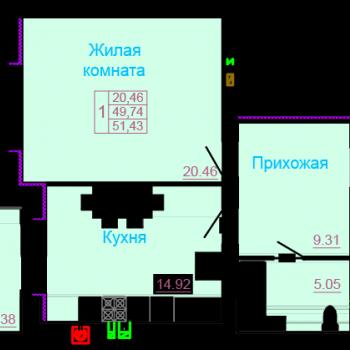 ЖК Вернадский (Тамбов) – планировка №3