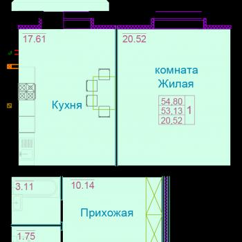 ЖК Вернадский (Тамбов) – планировка №2