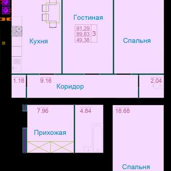 ЖК Вернадский (Тамбов) – планировка №14