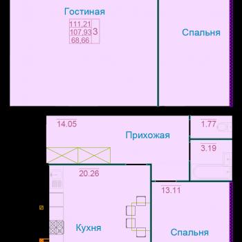 ЖК Вернадский (Тамбов) – планировка №12
