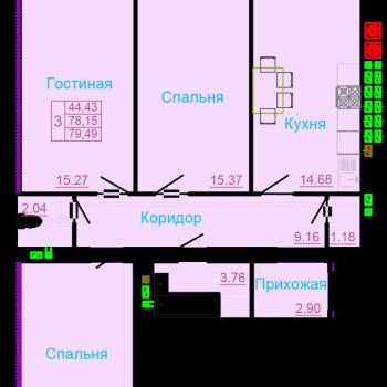 ЖК Вернадский (Тамбов) – планировка №11