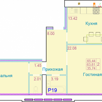 ЖК Вернадский (Тамбов) – планировка №10