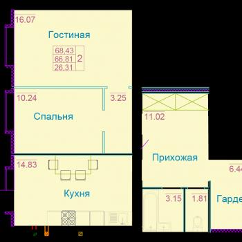 ЖК Вернадский (Тамбов) – планировка №8