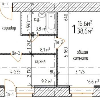 ЖК Империал (Тамбов) – планировка №3