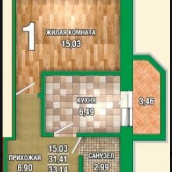 ЖК Грин Тауэр (Тамбов) – планировка №3