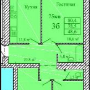 ЖК Видный (Тамбов) – планировка №1