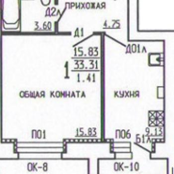 Дом на ул. Киквидзе (Тамбов) – планировка №1