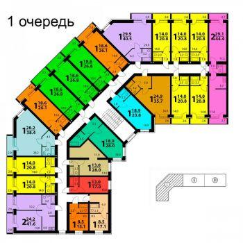 Дом по ул. Совхозная (Томск) – планировка №1