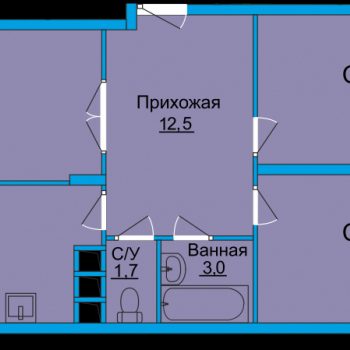 ЖК Вертикаль (Тула) – планировка №14