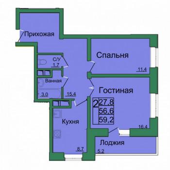 ЖК Вертикаль (Тула) – планировка №7