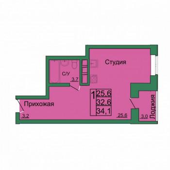 ЖК Вертикаль (Тула) – планировка №5