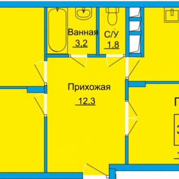 ЖК Вертикаль (Тула) – планировка №13
