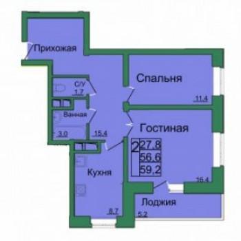 ЖК Вертикаль (Тула) – планировка №6