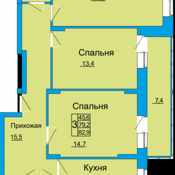 ЖК Вертикаль (Тула) – планировка №12