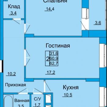 ЖК Вертикаль (Тула) – планировка №10