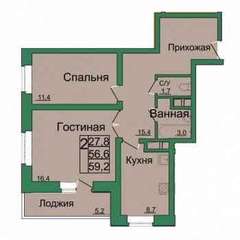 ЖК Вертикаль (Тула) – планировка №9