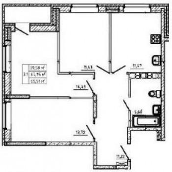 ЖК Ваш дом (Тула) – планировка №2