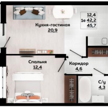 Смарт квартал Современник (Тула) – планировка №4