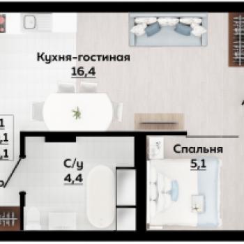 Смарт квартал Современник (Тула) – планировка №1
