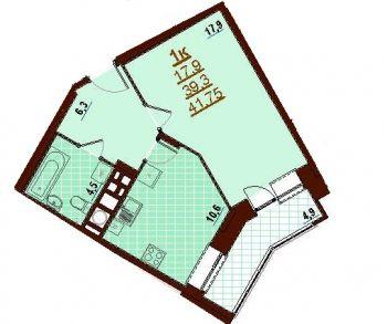 ЖК Пряничная слобода (Тула) – планировка №8